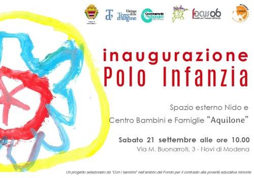 Si inaugura il Polo per l'Infanzia di Novi di Modena